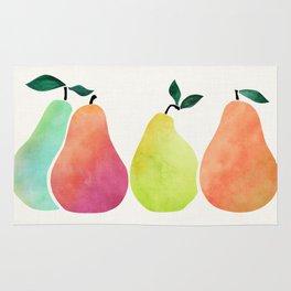 Colorful Fall Pears Rug