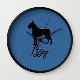 Izzy Slate Blue Boxer Wall Clock