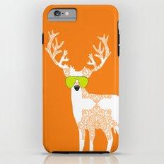 Orange reindeer art Tough Case iPhone 6 Plus