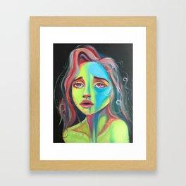 Highlighter girl original art Framed Art Print