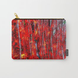 Wooded in Red Carry-All Pouch