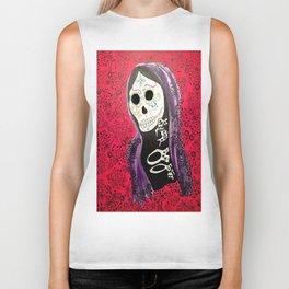 Day of the Dead Dia De Los Muertos Painting Art skull sugar skull  Biker Tank