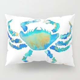 Craggy Blue Crab Pillow Sham