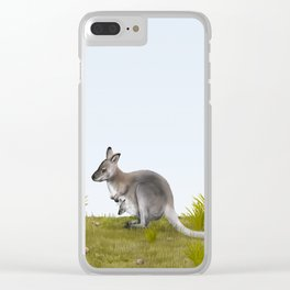 Bennett's wallaby (Macropus rufogriseus) Clear iPhone Case