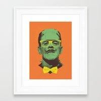 frank Framed Art Prints featuring Mr Frank by Victor Vercesi