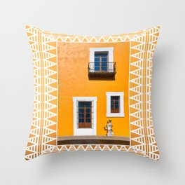 Finding Gold On The Streets of Puebla Mexico Throw Pillow