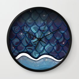 Mermaid Magic in Midnight Wall Clock