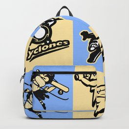Boutique fashion cartoon figure painting. Backpack