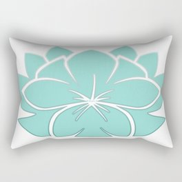 M Designs co lotus plumeria blossom Rectangular Pillow