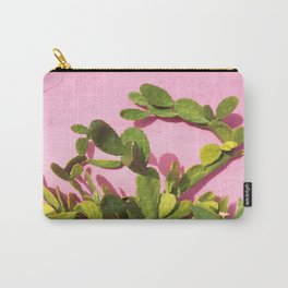 Pink Wall/Green Cactus  Carry-All Pouch