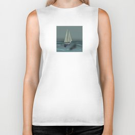 May in the Big Flying Boat - shoes stories Biker Tank