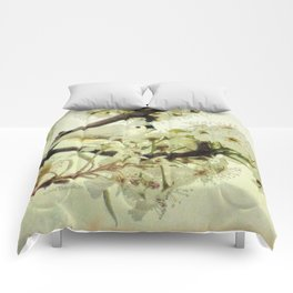 Tufted Titmouse Spring Flower Farmhouse Art Country Home Decor A132 Comforters