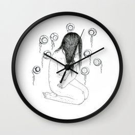 Nightmare nudity Wall Clock