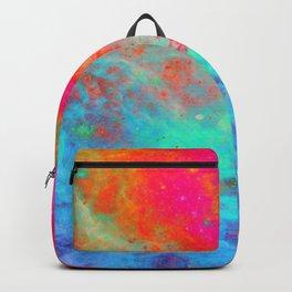 Galaxy : Bright Colorful Nebula Backpack