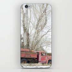 red truck iPhone & iPod Skin