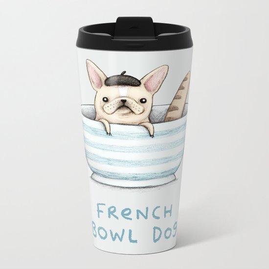 French Bowl Dog Metal Travel Mug