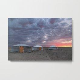 Sunrise in Gobi desert, Mongolia Metal Print