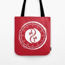 Capricorn Yin Yang Tenth Zodiac Sign Tote Bag