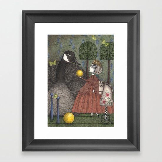 There Once was a Goose Framed Art Print