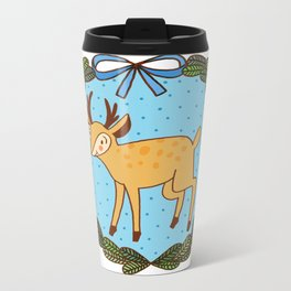 Baby deer Metal Travel Mug