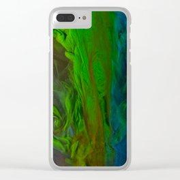 Blue Green Falls Clear iPhone Case