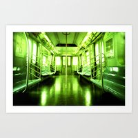 subway Art Prints featuring Subway by Jacquie Fonseca