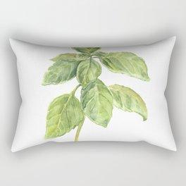 The Basil Plant Rectangular Pillow