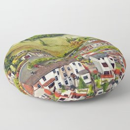 Cwm Parc, Treorchy, South Wales Valleys Floor Pillow