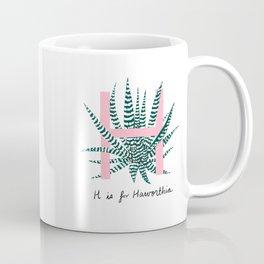H is for Haworthia Coffee Mug