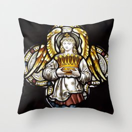 Angel & Holy crown Throw Pillow