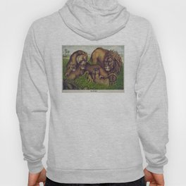 Vintage Illustration of a Lion Family (1874) Hoody