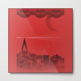 une nuit à paris (red version) Metal Print