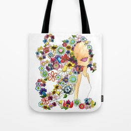 Flower Girl Two Tote Bag