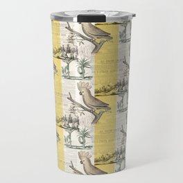Vintage Cockatoo Toile Travel Mug