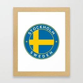 Sweden, Stockholm, circle Framed Art Print