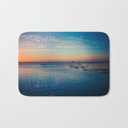 Peaceful sunset on the river Bath Mat