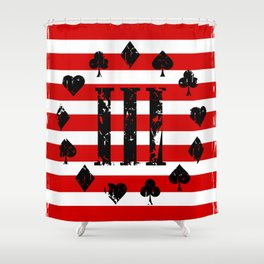 Three Percenter Aces USA Flag Shower Curtain