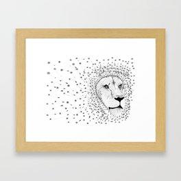 Lion Flower Framed Art Print