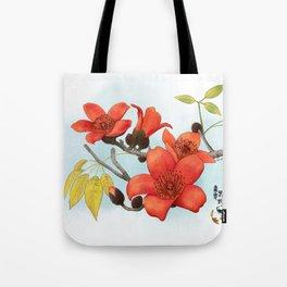 Tree Cotton Flower (Common Bombax) Tote Bag