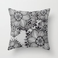 gray Throw Pillows featuring Gray  by rskinner1122