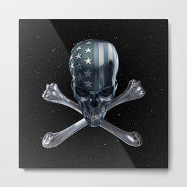 Spacey American Skull Metal Print