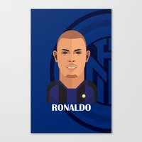 ronaldo Canvas Prints featuring Ronaldo Toon by Sport_Designs