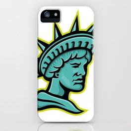 Lady Liberty or Libertas Mascot iPhone Case