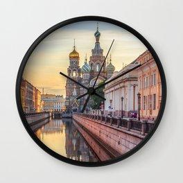 Church of the Savior on Blood, Saint Petersburg, Russia Wall Clock