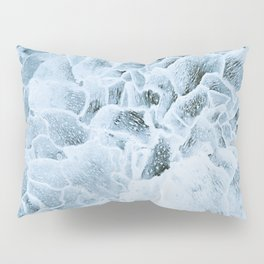 Dark blue pattern of ice. Pillow Sham