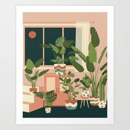 Houseplants in Hues Art Print