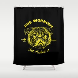 Pre Workout Kick In Shower Curtain