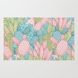 Pastel Cacti Obsession #society6 Rug