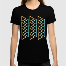 Impossible triangles geeky pattern. T-shirt