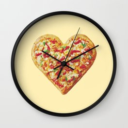 pizza of love Wall Clock